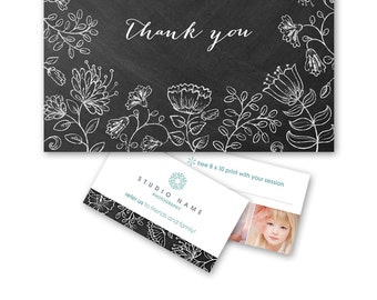 Photography Referral Template Thank You Card Promo Kit - 1220