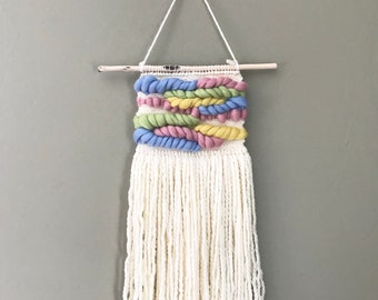 Pastel Woven Wall Hanging / Nursery Decor/ Made to Order