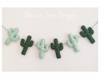 Cactus Garland, Felt Garland, Felt Cactus Garland, Cacti, Felt Garlands