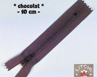 Chocolate zipper 10 cm