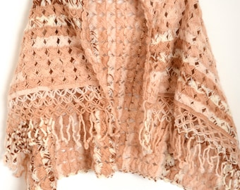Shawl Wrap Earth Tones Soft and Cozy