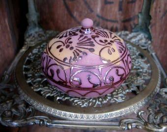 Terracotta Trinket Box, Hand Painted Box, Ceramic Box, Trinket Box, Vintage Box, Jewellery Box, Keepsake Box, Jewelry Box,  Unusual Box