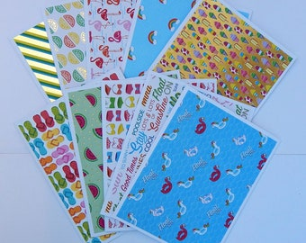 Summer time notecards 10//greeting cards//thank you cards//pool cards//birthday cards//blank greeting cards//blank notecards//card sets