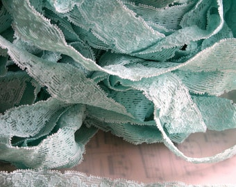 Baby Blue Stretch Lace for Lingerie Sewing- 6 yards