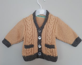 Baby boy cable knit cardigan