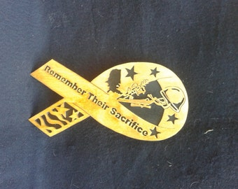 DavesSawdustFactory, woodworking, handmade, scrollsaw, military, military ribbon, remember there sacrifice,gift for military