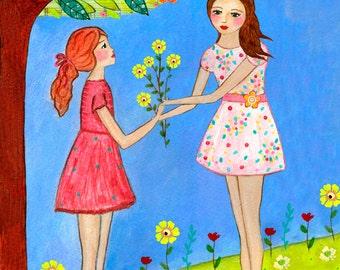 Wall Art, Large Art Print, Girl Art Print, Nursery Art, Giclee Art Print, Large Wall Art