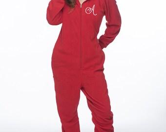 Adult onesie monogrammed onesie personalized onesie for adults
