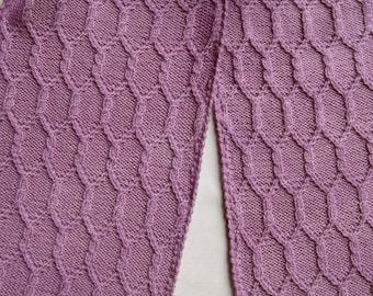 Knit Scarf Pattern:  Gothic Columns Turtleneck Scarf Knitting Pattern
