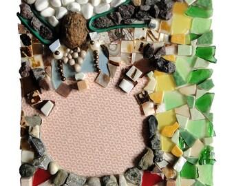 """Art original : """"Coco à la noix"""", artisanat techniques mixtes, collage mosaïque d'art, décoration tableau, déco pièce unique"""