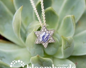 Floral Preservation Services, Wish Upon a Star Pendant, Memorial Jewelry, Remembrance Keepsake Jewelry, Condolence Gift