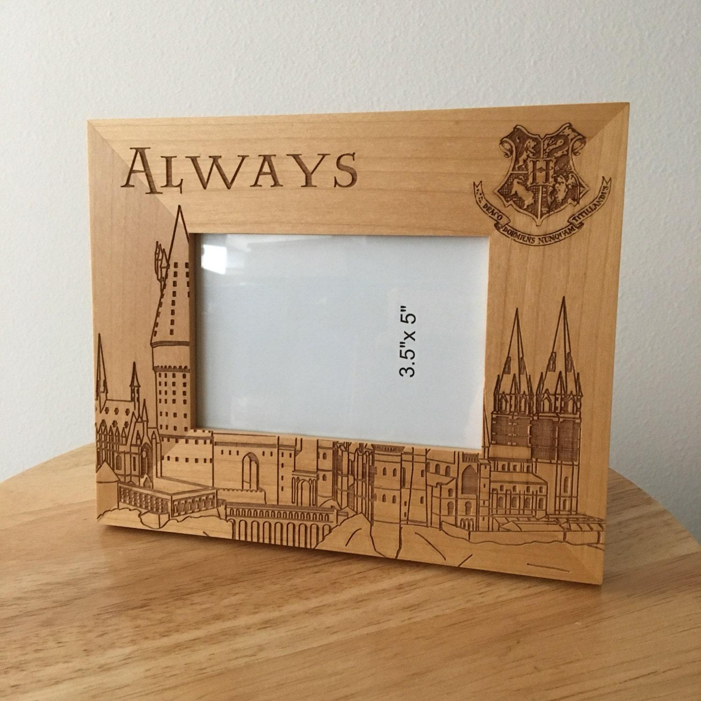 Holz Bilderrahmen von Hogwarts