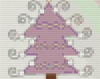 E-Pattern Holiday Tree Cross Stitch Pattern 04