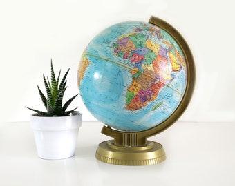 Vintage LeRoy M. Tolman Replogle Globe, 9 inch / World Scholar Series