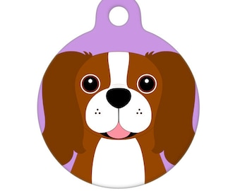 Pet ID Tag - Cavalier King Charles Spaniel - Blenheim Pet Tag, Dog Tag