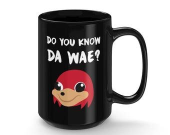 Do You Know Da Wae Tall Ceramic Mug Socks Meme Socks Pattern Best Internet Meme Gifts Black