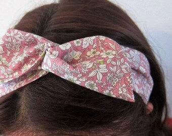 Floral pink bendy wire headband, hair accessory