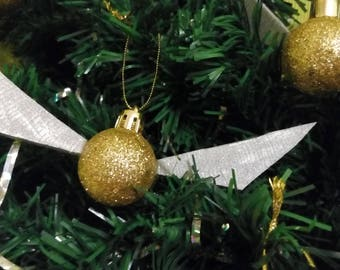 Harry Potter Golden Snitch Ornaments Set of 6, Set of 4 Christmas
