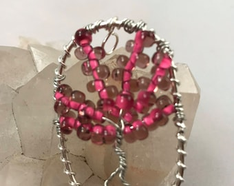 Reiki Infused Pink and Magenta Tree of Life