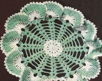 INSTANT DOWNLOAD 1950's Sea Shells Ruffle Doily Vintage Crochet Pattern PDF 430