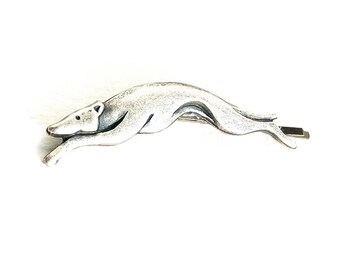 Fabulous Greyhound Hair Grip/Bobby Pin with Antique Silver Finish