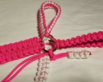 White Pink Paracord Bridle