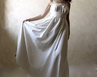 Boho Wedding dress, Bridal gown, Empire wedding dress, Alternative wedding dress, Long wedding dress, A-line wedding dress, silk ballgown,