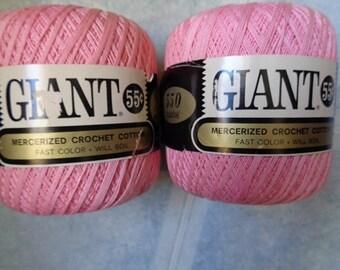 Pink Crochet Cotton Thread,2 Balls - FREE SHIPPING