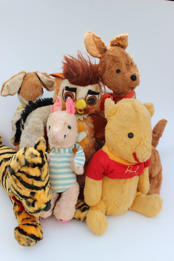 Vintage Winnie The Pooh Toy Doll Collection Rabbit Roo Kanga