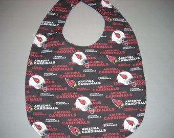 Arizona Cardinals Adult Size Bib / Clothing Protector - Reversible