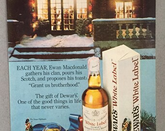 1981 Dewar's White Label Scotch Whisky Print Ad - Ewan Macdonald