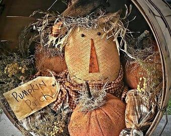 Kay's Primitive Designs Pumpkin Patch Scarecrow Pattern Packet