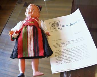 Vintage World Wide Doll Club Original Greece - Zarkos Angisoulaki