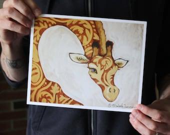 Patterned Giraffe; Fine Art Print