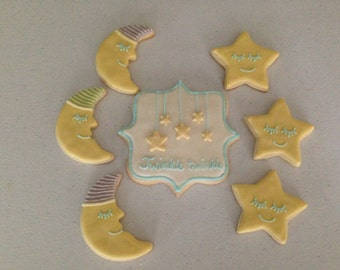 Baby Shower/ Twinkle Twinkle Little Star Sugar Cookies