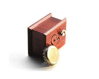 """Wooden hearts wood heart gift love you romantic music box  """"Love Story"""""""