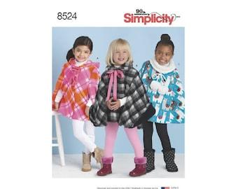 Simplicity 8524/D0852 - Child's Poncho