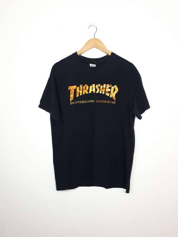 Rare!! Vintage TRASHER Magazine 90's Mens Tee Tshirt Skateboard Skater Streetwear Vintage Trasher Skateboard Medium Size Made In Usa G2moHOlAnl