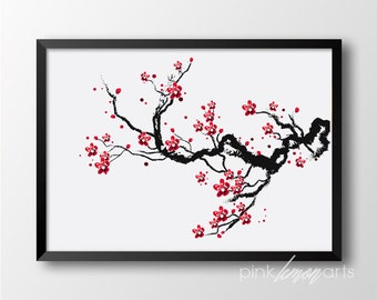 Cherry Blossoms Print, Flower Wall decor, Japanese Home decor, Cherry Blossoms Printable 115