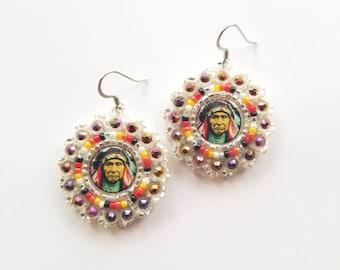 Small Chief Joseph Beaded Earrings