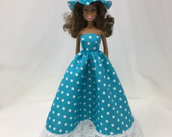 "Southern Belle Dress-11.5"" Doll Clothes-Southern Belle Dress-Fashion Doll Gown-Fancy Doll Dress-Handmade Dress-Gifts for Girls-Toys"