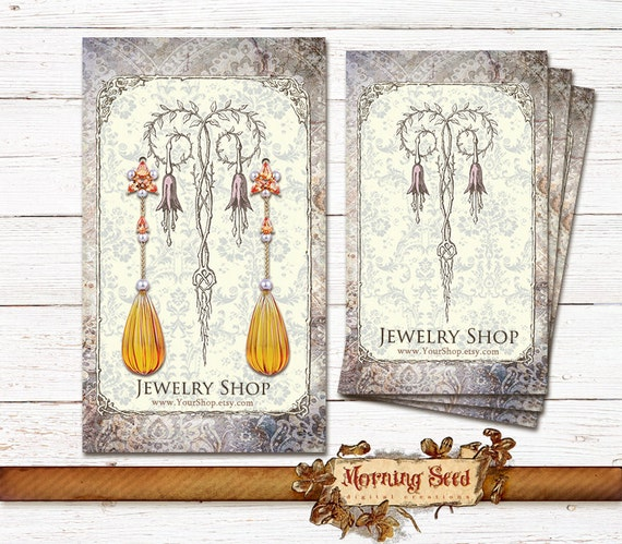 Jewelry cards printable business card template price tags reheart Choice Image