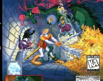 Dragon's Lair Custom Reproduction Atari Jaguar CD Game.
