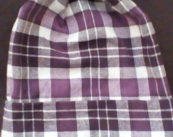 purple flannel slouch hat