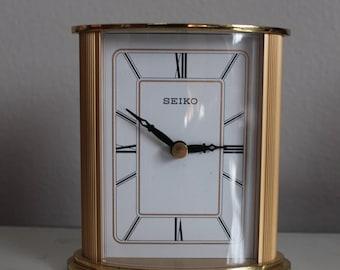 Vintage Seiko Gold Table Clock