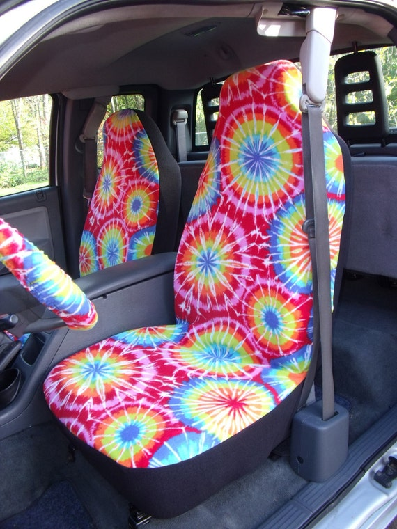 1 Set of Thats is the Tie Dye Color Print Car Seat