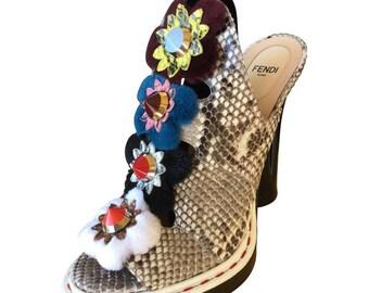 Fab Fendi Peep Toe Shoes.