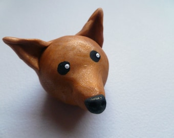 Mini Marble Friend Chihuahua in Golden Brown Swirl Chinese New Year of the Dog