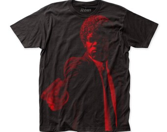 Impact Icons Pulp Fiction Jules Winnfield Soft Fitted 30/1 Cotton Tee (SUBPULP2) Black (DISCONTINUED!)