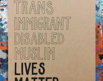 Black Lives Matter Hand-Lettered Notebook